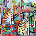 Abstract Cats by Karin Zeller