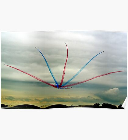 Red Arrows Split Poster