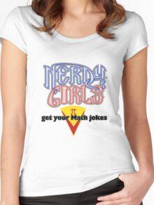 Nerdy Girls 008 - Math Jokes Women's Fitted Scoop T-Shirt
