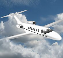 A Private Jet in Cloud by Dennis Melling