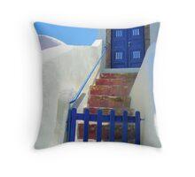 Oia Greece Throw Pillow