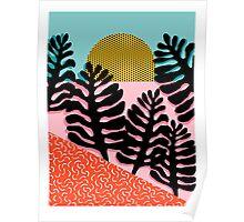 B.F.F. - throwback 80s style memphis design neon art print hipster brooklyn palm springs resort pattern dots palms desert  Poster