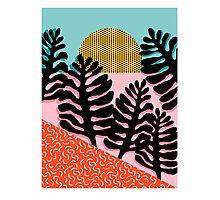 B.F.F. - throwback 80s style memphis design neon art print hipster brooklyn palm springs resort pattern dots palms desert  Photographic Print