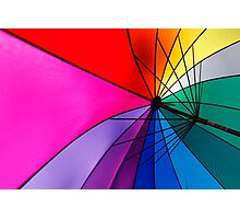 Rainbow Umbrella Photographic Print
