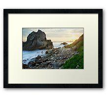 Corona Del Mar Sunset Pseudo Framed Print
