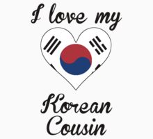 I Love My Korean Cousin Kids Tee