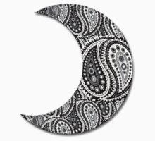 Paisley Yin Yang Moon One Piece - Short Sleeve