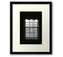 Window Lace Framed Print