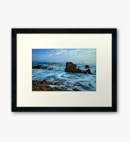 Rock Ocean Framed Print