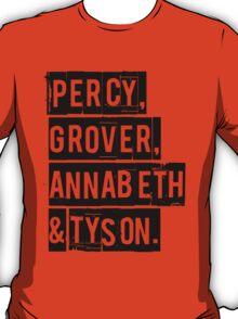 Percy, Grover, Annabeth & Tyson T-Shirt