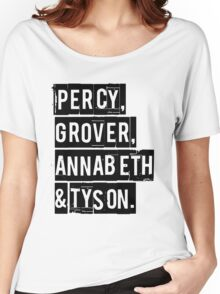 Percy, Grover, Annabeth & Tyson Women's Relaxed Fit T-Shirt