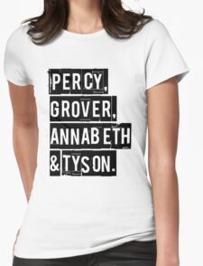 Percy, Grover, Annabeth & Tyson Womens Fitted T-Shirt