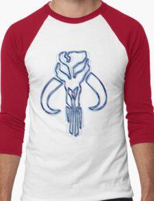 Bounty Hunter Emblem (Alkali Scheme) Men's Baseball ¾ T-Shirt