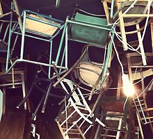 Chairs on the Ceiling by Ashley Marie