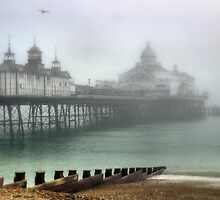 Eastbourne --- Tide Out - Mist In by Larry Lingard-Davis