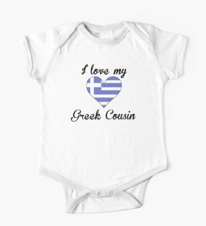 I Love My Greek Cousin One Piece - Short Sleeve