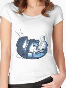Playin' Ya'self - Blue Women's Fitted Scoop T-Shirt
