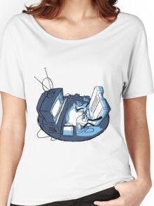 Playin' Ya'self - Blue Women's Relaxed Fit T-Shirt