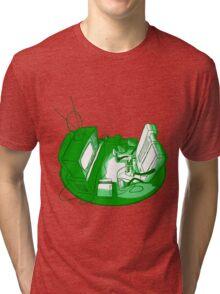 Playin' Ya'self - Green Tri-blend T-Shirt