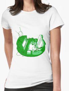 Playin' Ya'self - Green Womens Fitted T-Shirt