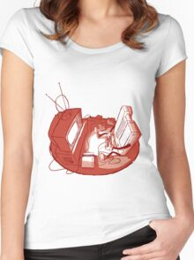 Playin' Ya'self - Red Women's Fitted Scoop T-Shirt