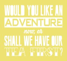 Would you like an adventure now or shall we have our tea first? Kids Clothes