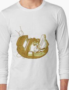 Playin' Ya'self - Yellr.Brownish Long Sleeve T-Shirt