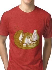 Playin' Ya'self - Yellr.Brownish Tri-blend T-Shirt