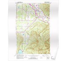 USGS Topo Map Washington State WA Lawrence 241959 1952 24000 Poster