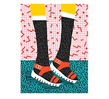 Kicks - throwback retro vintage 1980 1980's 80s 80's memphis bright neon colorful urban chic hipster Photographic Print