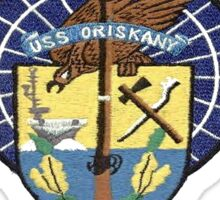 Crest of USS Oriskany (CV-34) for Dark Backgrounds Sticker