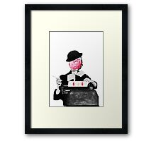 Type it ice cream Framed Print