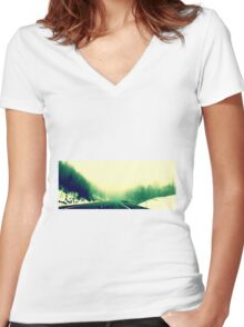 Journey  Women's Fitted V-Neck T-Shirt
