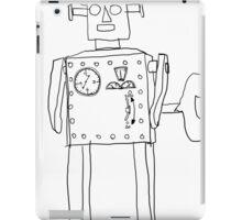 robot vintage toy cute art iPad Case/Skin