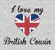 I Love My British Cousin Kids Tee
