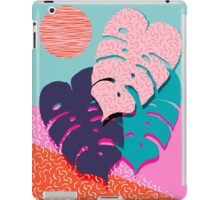 Mega - throwback memphis 1980's 80's 80s style art print bright colorful happy plants nature chic iPad Case/Skin
