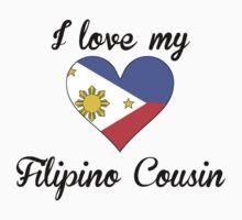 I Love My Filipino Cousin Kids Tee