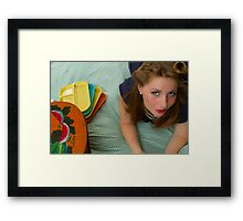 50s Retro Girl Framed Print