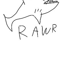 Shark RAWR by inunokoen