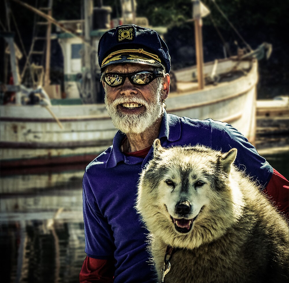 A Captain and His Dog by Randy Turnbow