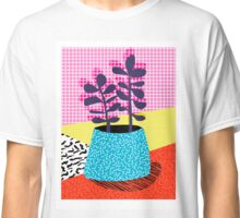Shibby - neon 80's throwback potted plant indoor garden pink yellow red grid memphis los angeles palm springs resort hipster Classic T-Shirt