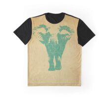 Elephant print  - vintage map Graphic T-Shirt