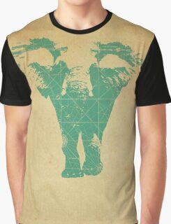 Elephant print  - vintage map Graphic T-Shirt