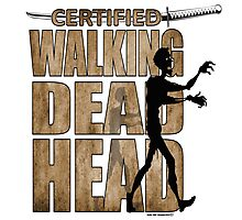 Walking Dead Head Photographic Print