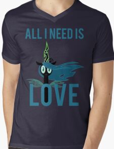 All I Need is Love (Queen Chrysalis from MLP:FiM) Mens V-Neck T-Shirt