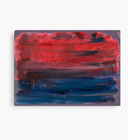 Paint faded text red Canvas Print