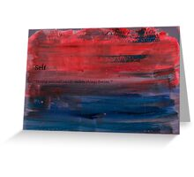 Paint faded text red Greeting Card