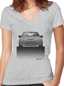 Modern Japanese Icons: Subaru Alcyone SVX Women's Fitted V-Neck T-Shirt
