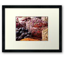 Spice Souk Framed Print