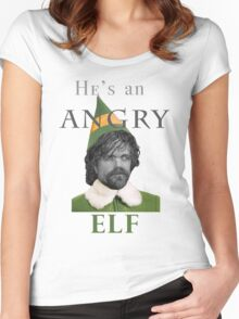 Angry Elf  Women's Fitted Scoop T-Shirt